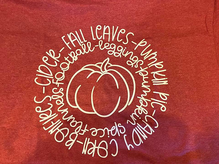 Fall Leaves Pumpkin Pie Bonfire Autumn T-shirt