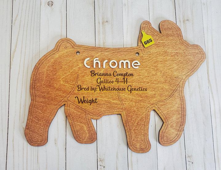Custom Layered Hog Stall / Pen Sign