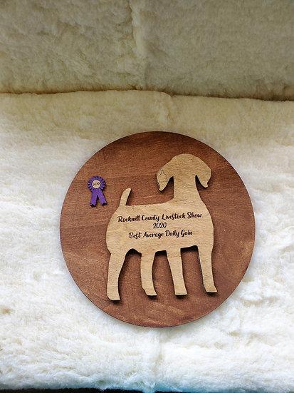 Layered Wooden Livestock Awards