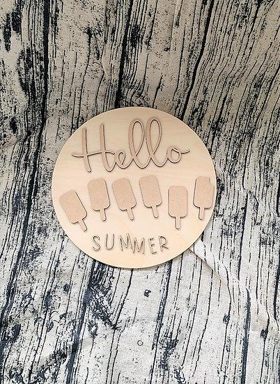 DIY Fun Hello Summer Door Hanger