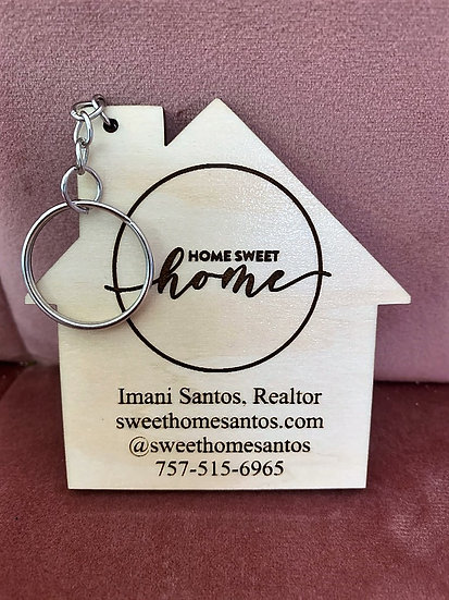House Real Estate Advertising Key Chain