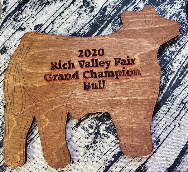 Beef Bull / Steer / Cattle Show Wooden Award