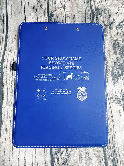 Faux Leather Livestock Award Clipboards