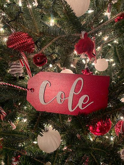 Custom Large Christmas Stocking Tags / Gift Tags