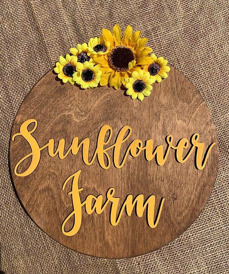 Sunflower Farm Door Hanger