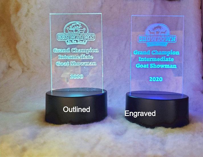 Acrylic Awards with Light Up Base
