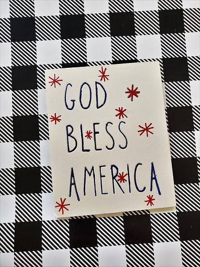 God Bless America Sign or Magnet