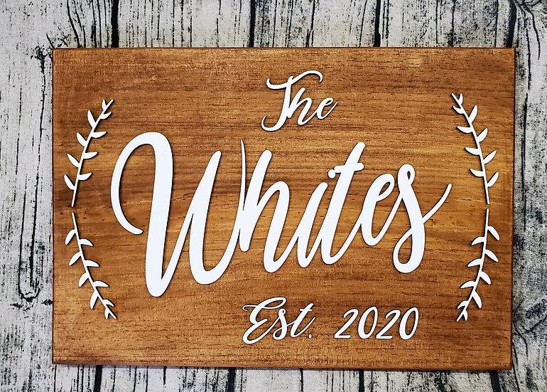 Custom Last Name Wood Layered Sign