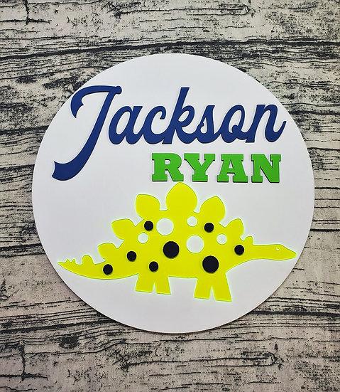 Personalized Dinosaur Nursery Bedroom Sign