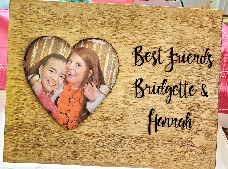 Personalized Heart Wooden Picture Frame