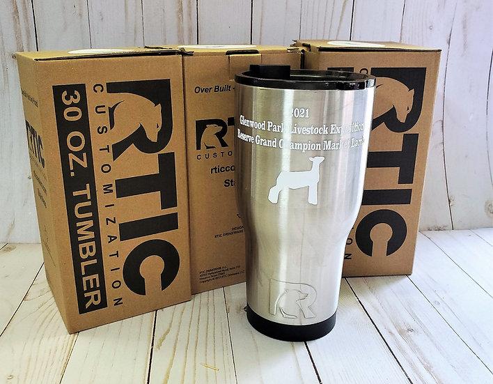 Personalized RTIC brand 30oz Tumbler
