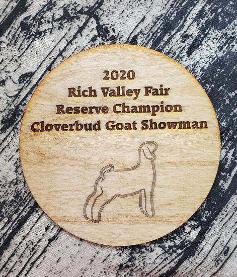 Small Round Livestock Engraved Award