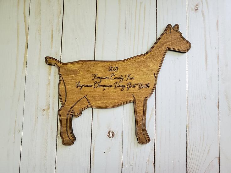 Dairy Doe Cut Out Livestock Award