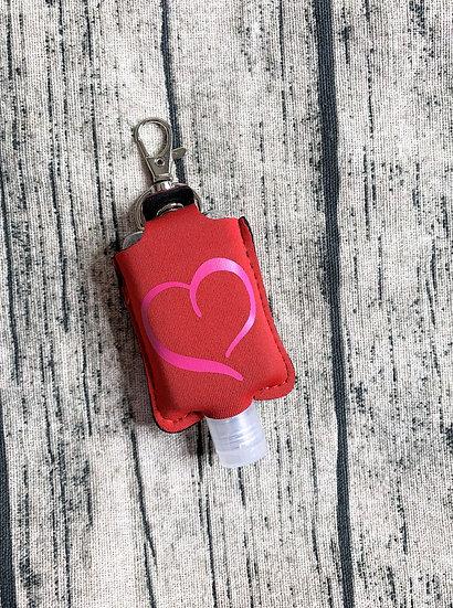 Valentine Heart Hand Sanitizer Keychain Case Designs