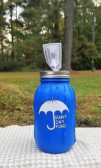 Rainy Day Fund Bank Mason Jar