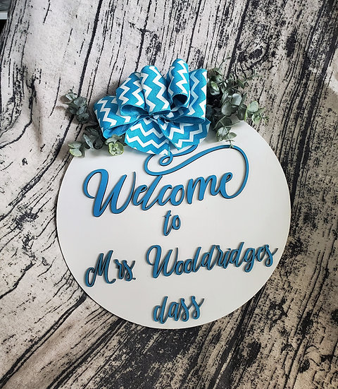 Personalized Teacher's Gift Sign / Door Hanger