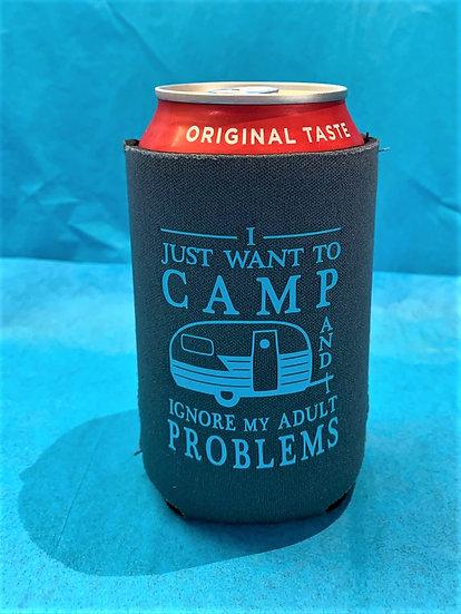 Camp & Ignore Adult Problems Beverage Holder