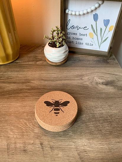 Honey Bee Coaster - Cork Trivet