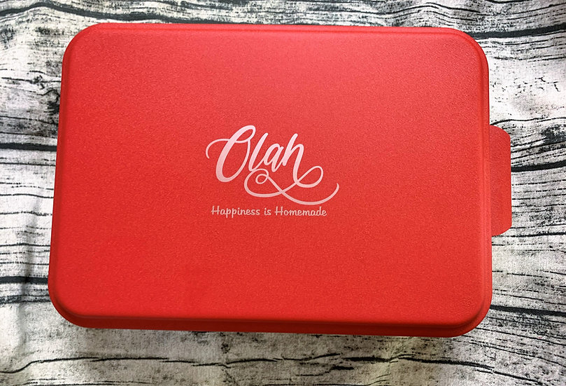 Personalized Custom Aluminum Cake Pan with Anodized Lid