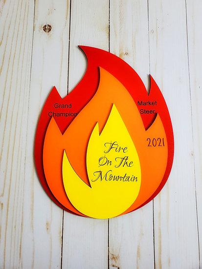 Fire Shaped Layered Award