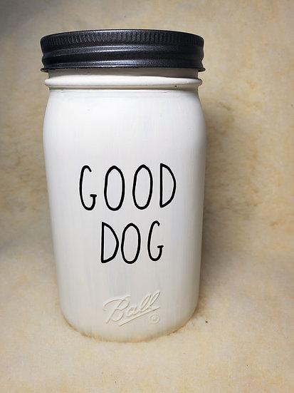 Good Dog Treat Mason Jar Storage