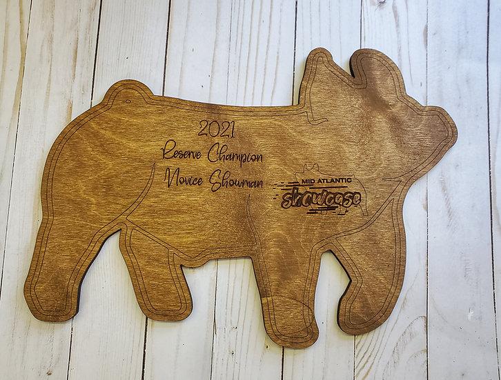 Any Species Jumbo Livestock Cut Out Award