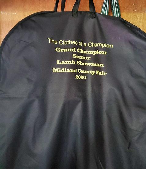 Personalized Garment Bag Award / Gift