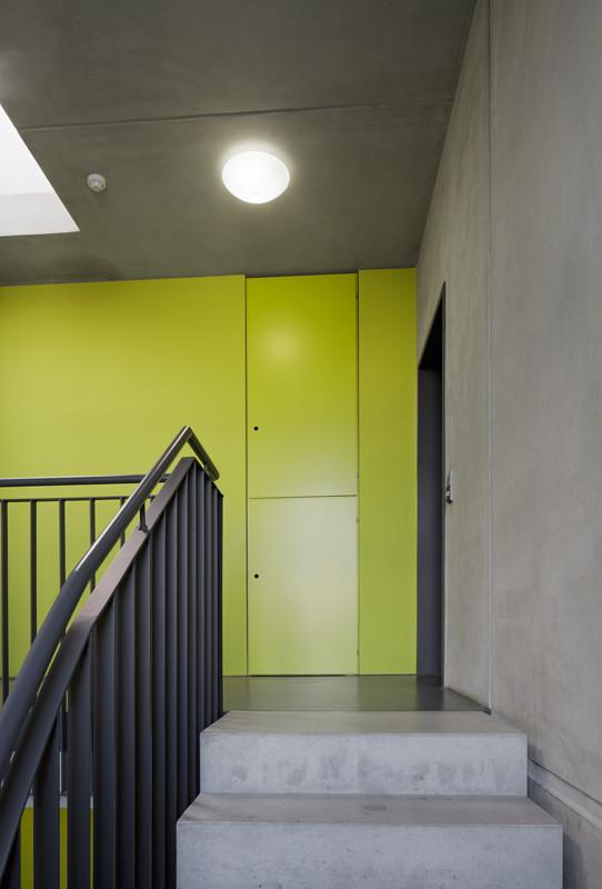 Farbakzent Treppenhaus