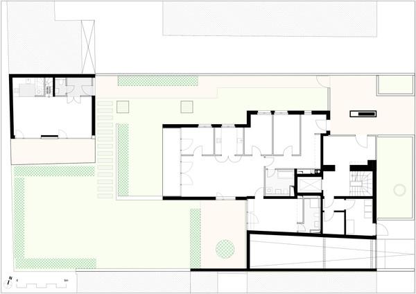 Erdgeschoss mit Gartenaufteilung
