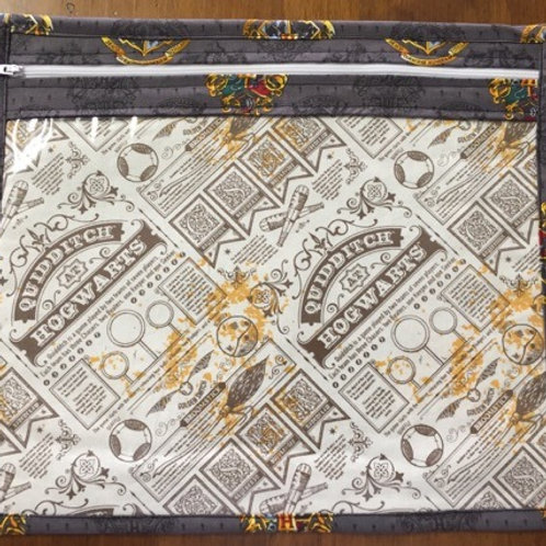 Harry Potter Project bag grey/quidditch