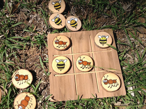 Ants and Bees tic tac toe set