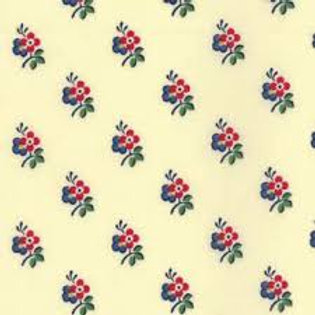 A La Carte cream with red and blue flowers