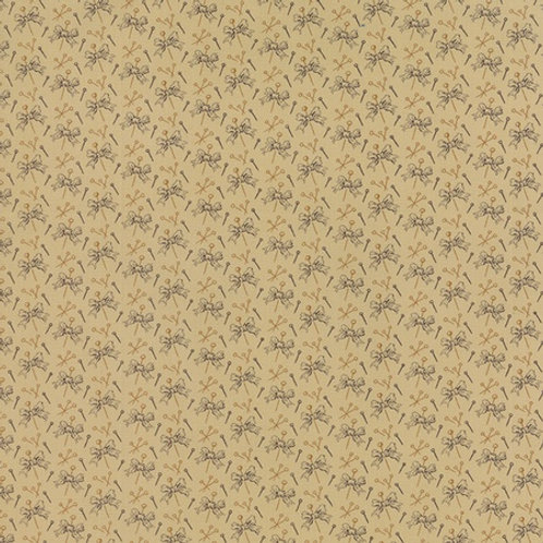 Hearts Content beige with maroon bows