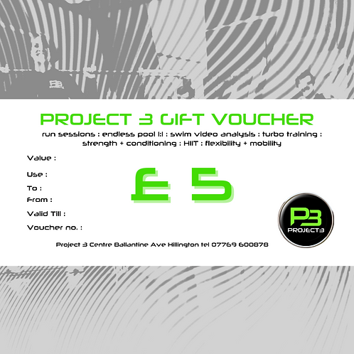 Project 3 Gift Voucher £5