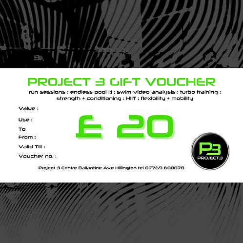 Project 3 Gift Voucher £20