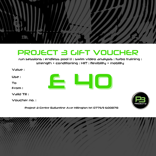 Project 3 Gift Voucher £40