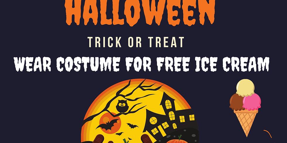 Free Ice Cream Halloween