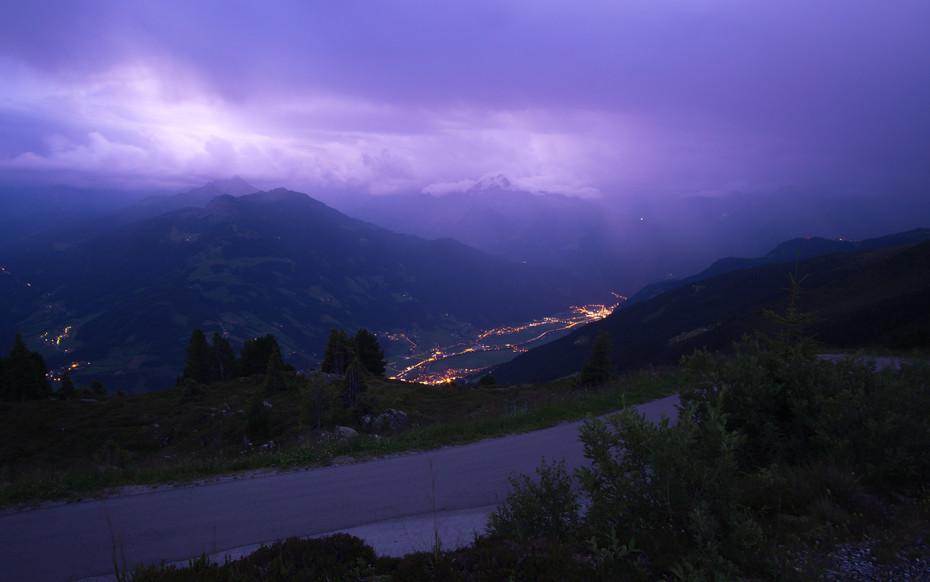 Gewitter Zillertaler Höhenstraße