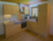 voll ausgestatteter Küchenblock
