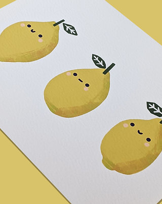 Lemon Row Print