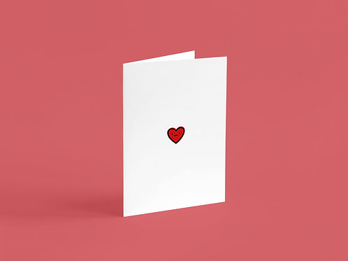 Low Key Valentines A6 Card