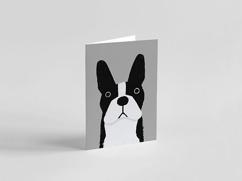 Boston Terrier Dog A6 Card