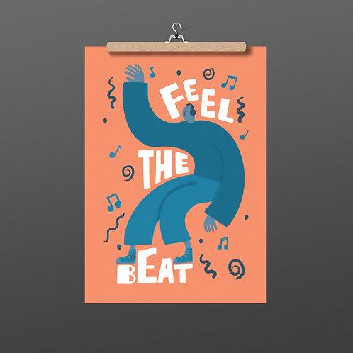 Feel The Beat A4 Print