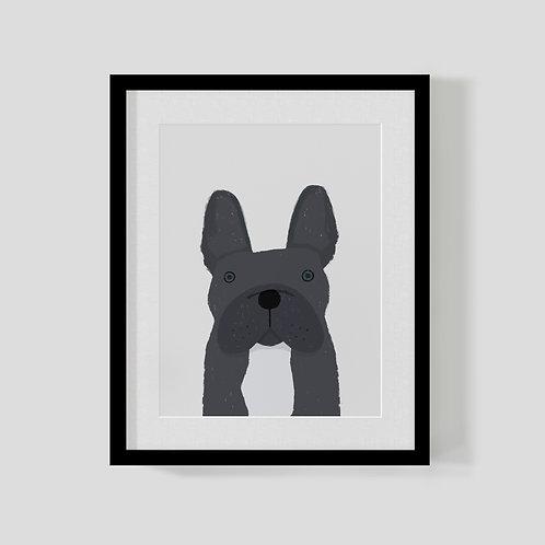 French Bulldog Print A4