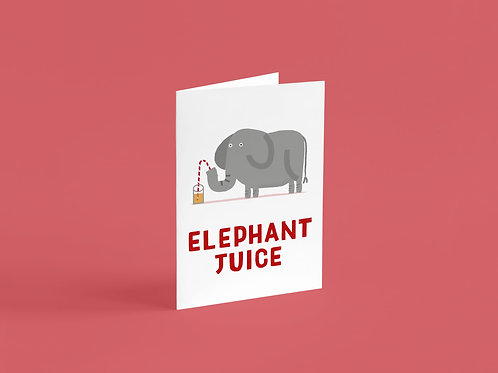 Elephant Juice A6 Card