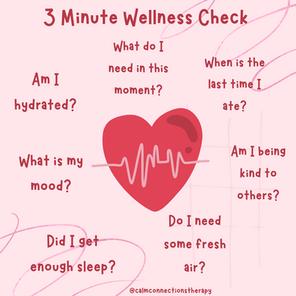 3 Minute Wellness Check