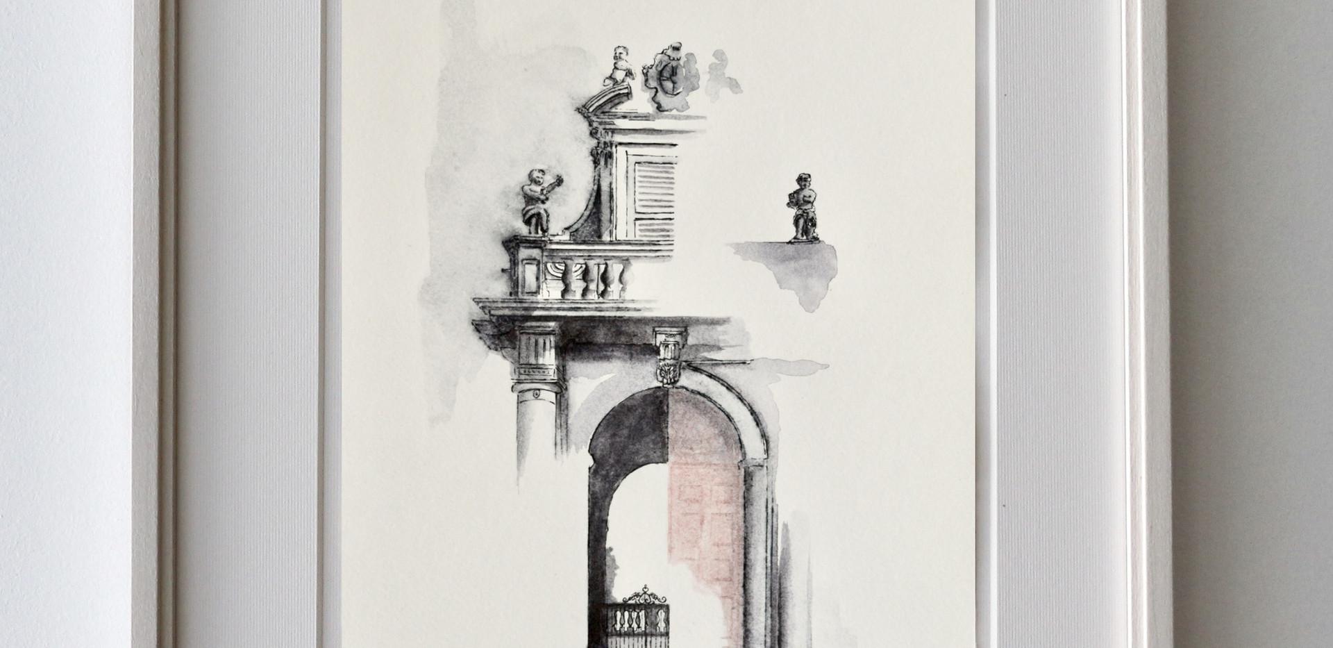 Palazzo Terzi - Esempio di cornice