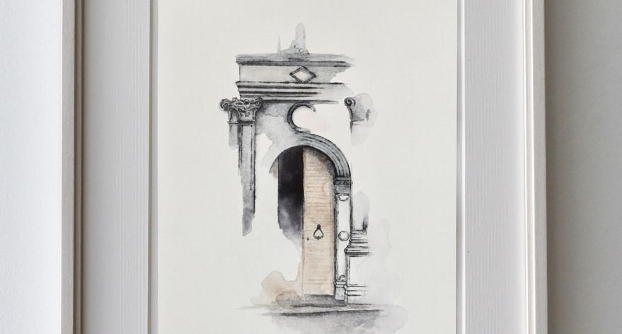 Porta dell'Arciprete - Esempio di cornice