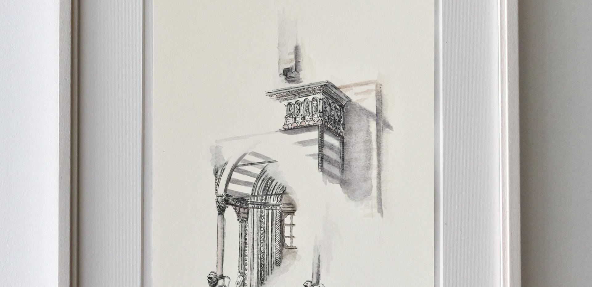 Portone Basilica di Santa Maria Maggiore - Esempio di cornice