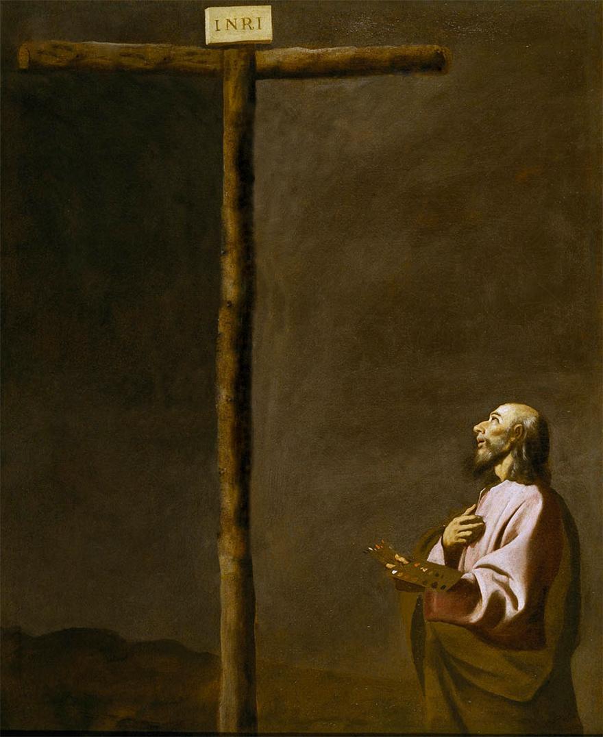 San-Lucas-como-pintor-ante-Cristo-en-la-Cruz-1650---Zurbaran-02.jpg